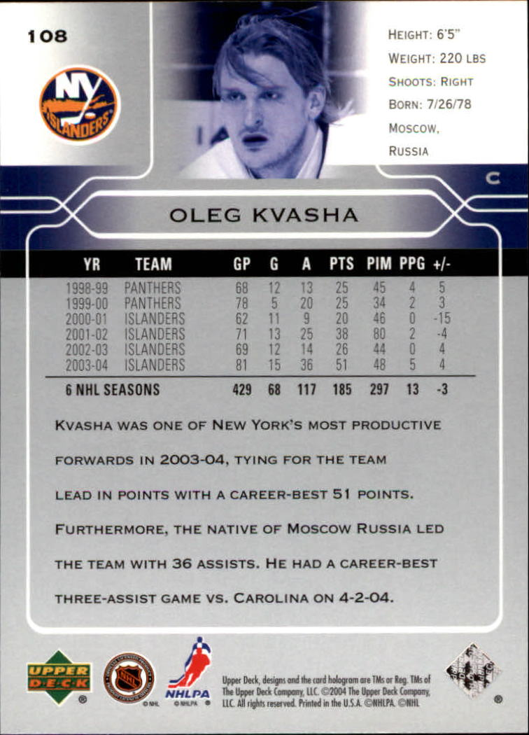 2004-05-Upper-Deck-Hockey-Cards-Pick-From-List thumbnail 201