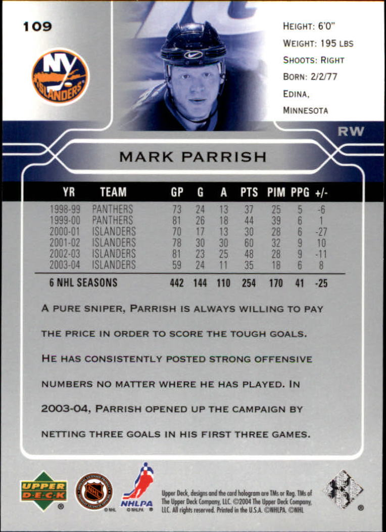 2004-05-Upper-Deck-Hockey-Cards-Pick-From-List thumbnail 203