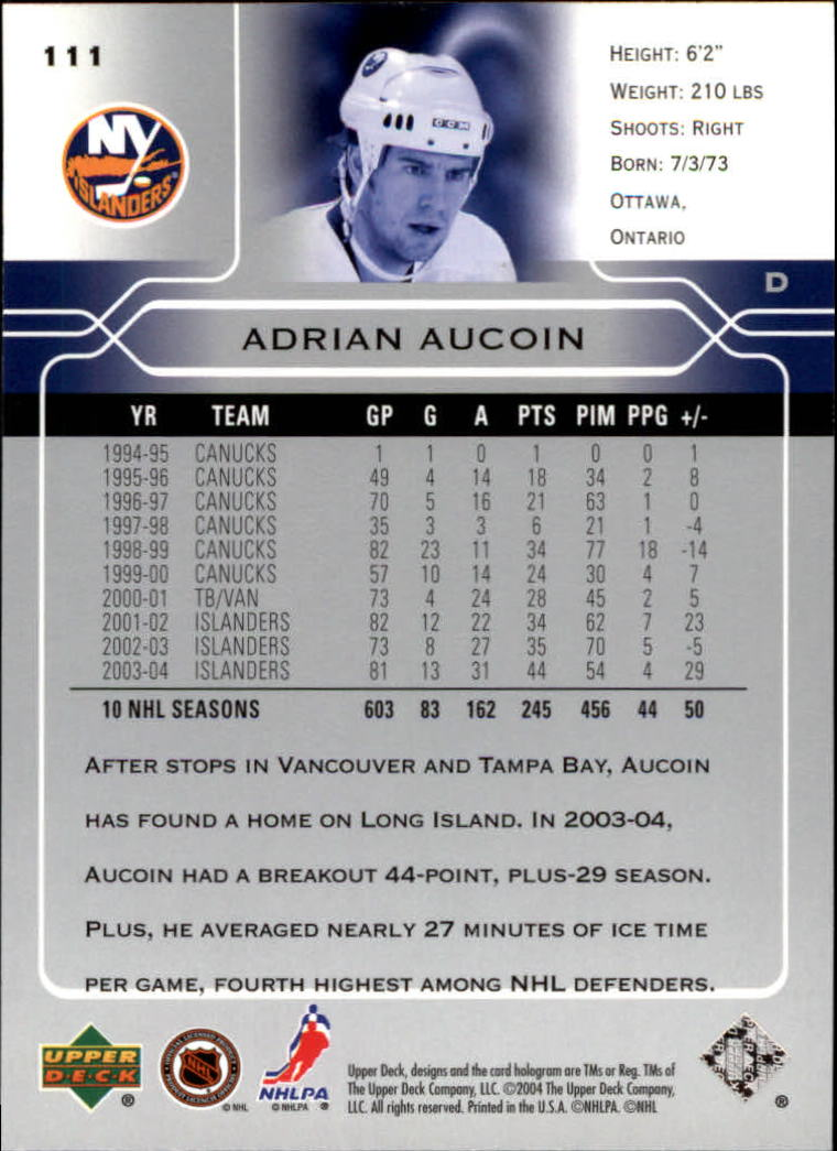 2004-05-Upper-Deck-Hockey-Cards-Pick-From-List thumbnail 207