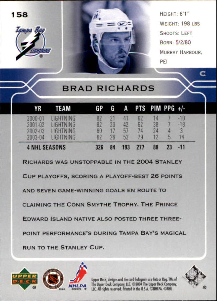 2004-05-Upper-Deck-Hockey-Cards-Pick-From-List thumbnail 289