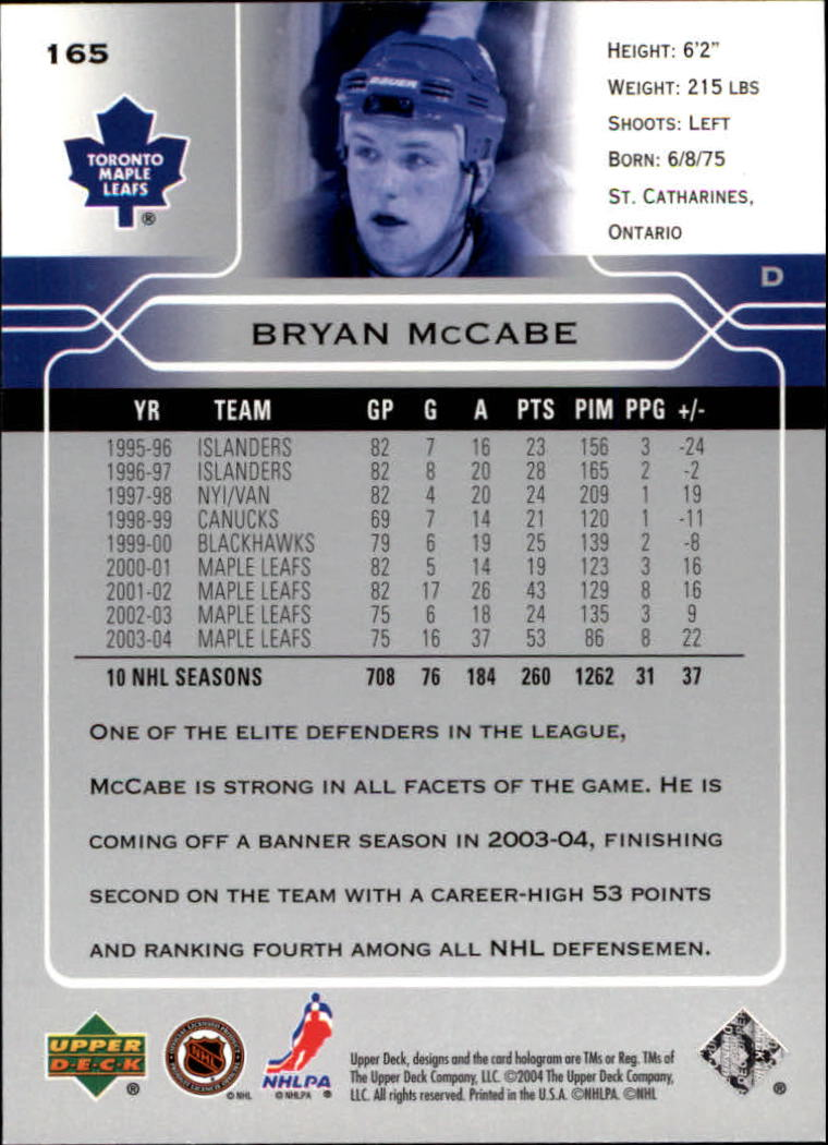 2004-05-Upper-Deck-Hockey-Cards-Pick-From-List thumbnail 303