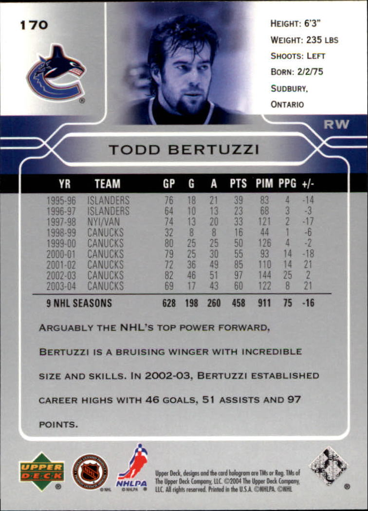 2004-05-Upper-Deck-Hockey-Cards-Pick-From-List thumbnail 313