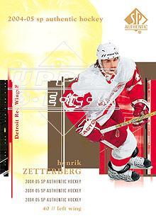 2004-05 SP Authentic #35 Henrik Zetterberg