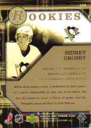 2005-06 Upper Deck Power Play #133 Sidney Crosby RC back image