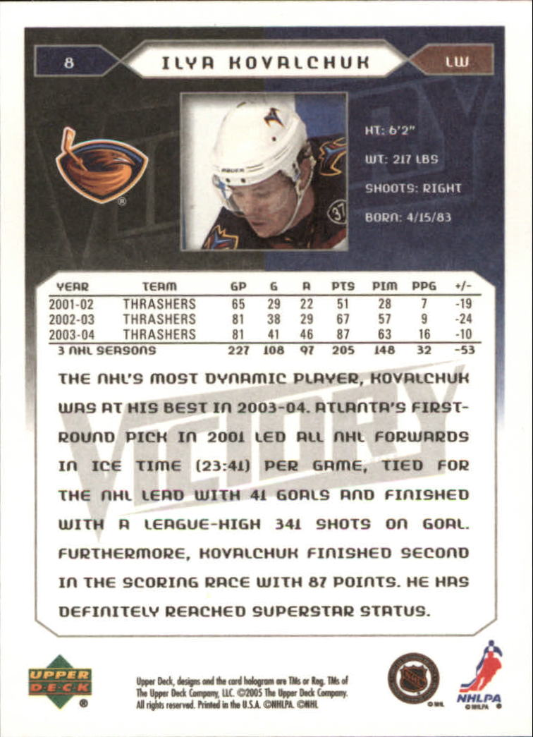 2005-06-Upper-Deck-Victory-Hockey-Card-Pick thumbnail 13