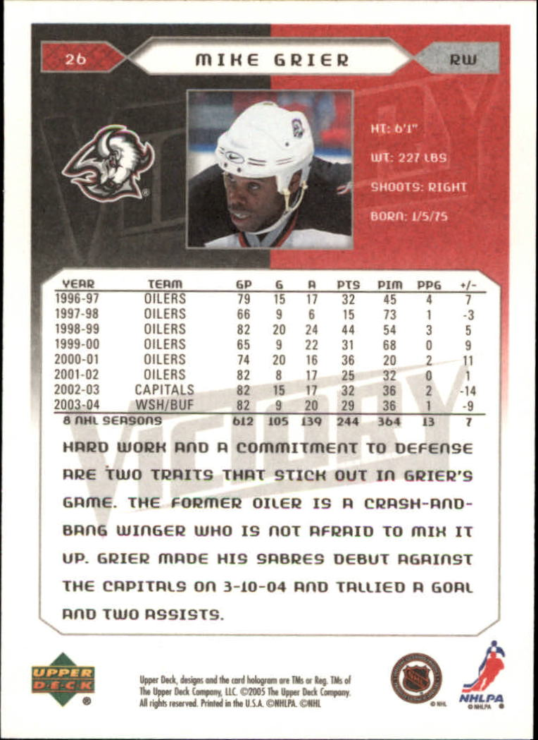 2005-06-Upper-Deck-Victory-Hockey-Cards-1-250-Pick-From-List thumbnail 49