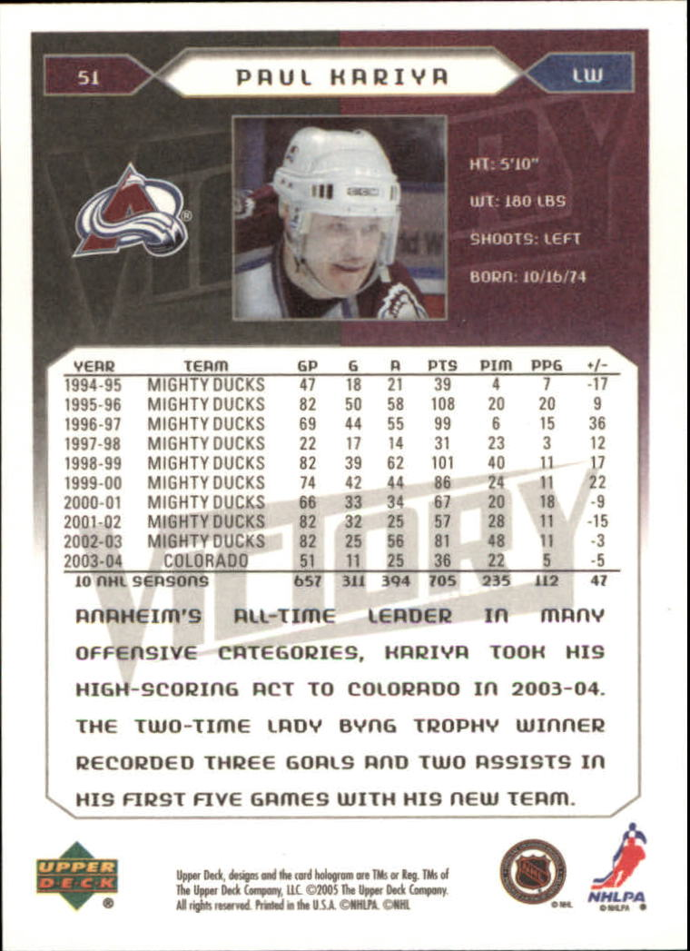 2005-06-Upper-Deck-Victory-Hockey-Cards-1-250-Pick-From-List thumbnail 97