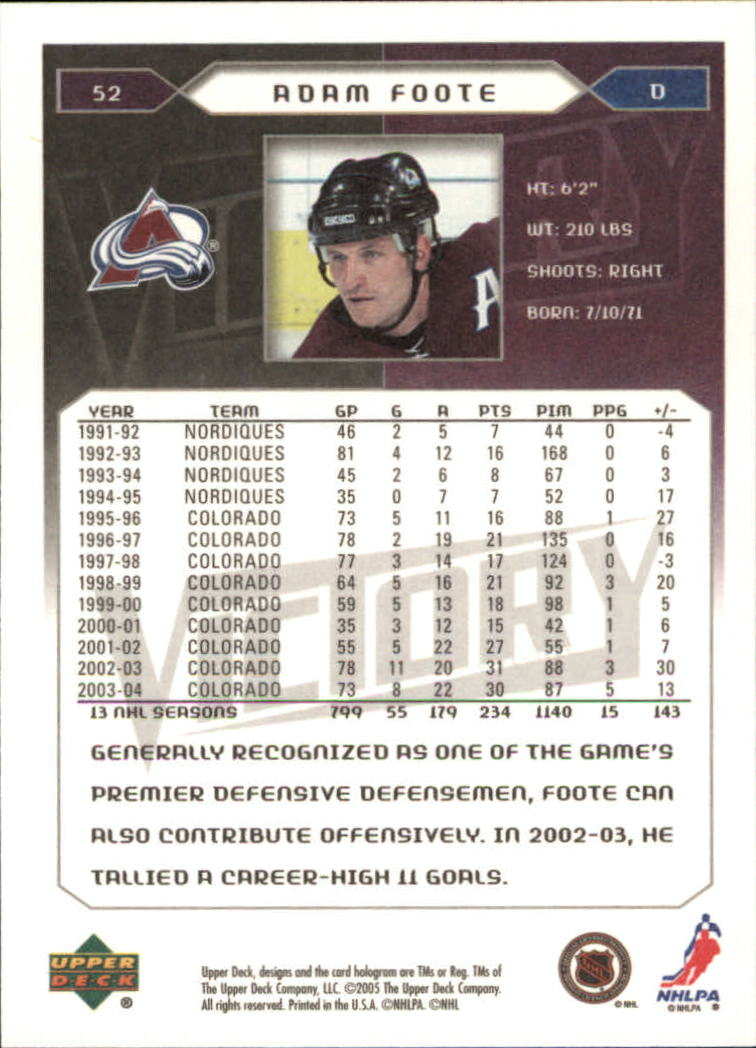 2005-06-Upper-Deck-Victory-Hockey-Cards-1-250-Pick-From-List thumbnail 99