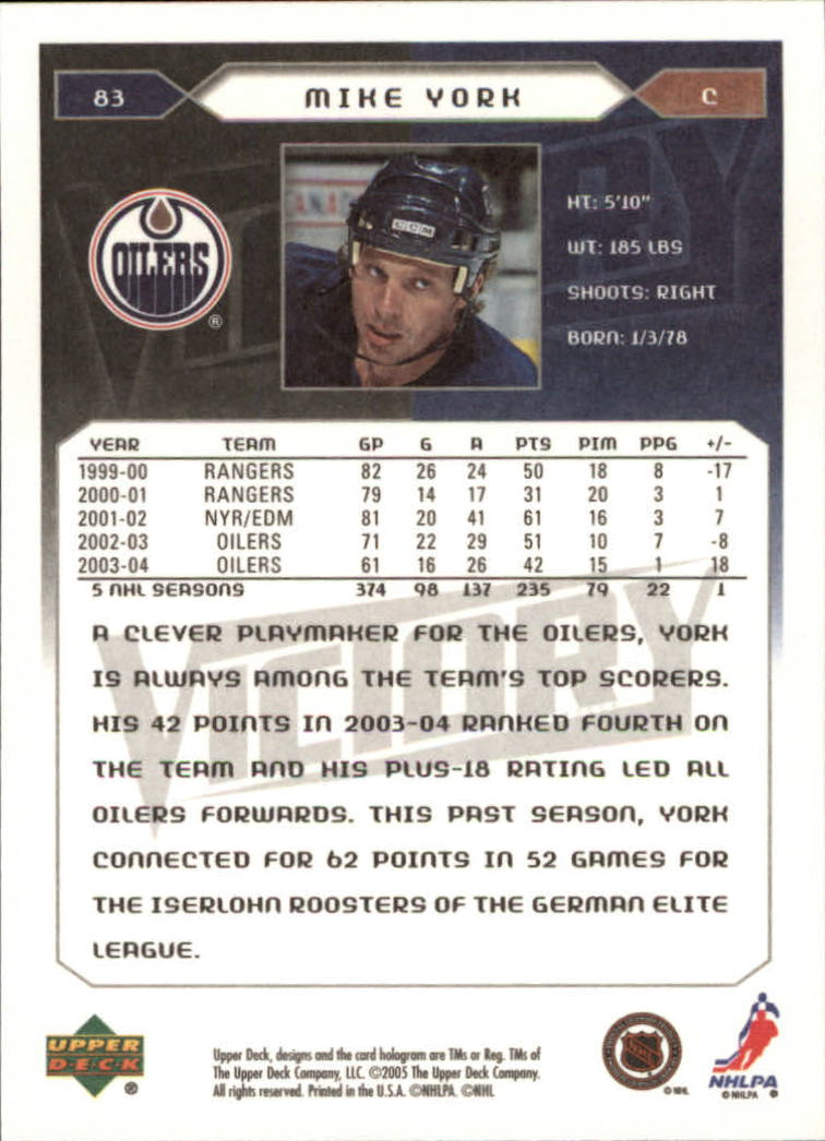 2005-06-Upper-Deck-Victory-Hockey-Cards-1-250-Pick-From-List thumbnail 153