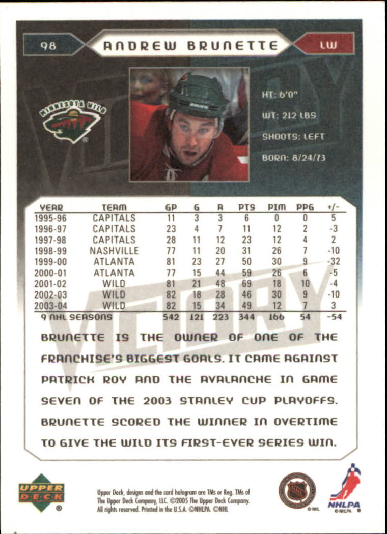 2005-06-Upper-Deck-Victory-Hockey-Cards-1-250-Pick-From-List thumbnail 179