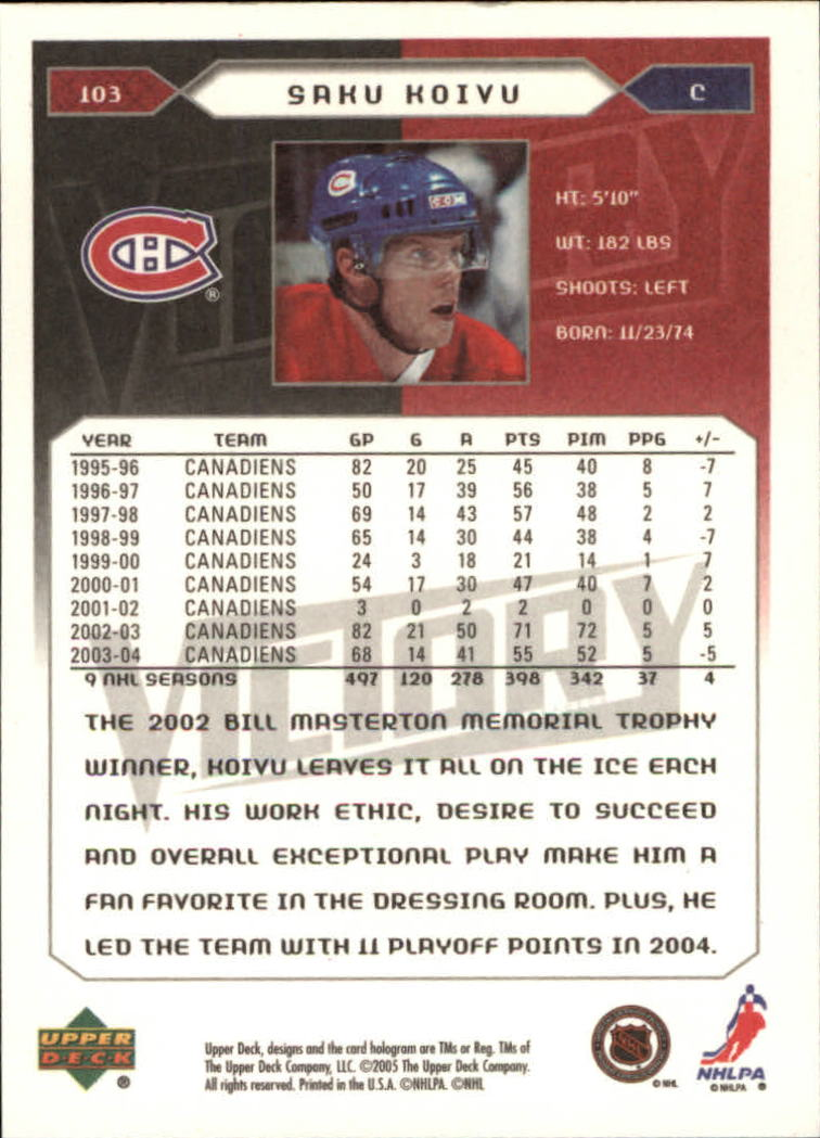 2005-06-Upper-Deck-Victory-Hockey-Cards-1-250-Pick-From-List thumbnail 189
