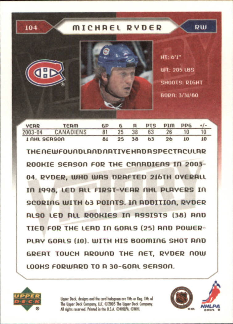 2005-06-Upper-Deck-Victory-Hockey-Cards-1-250-Pick-From-List thumbnail 191
