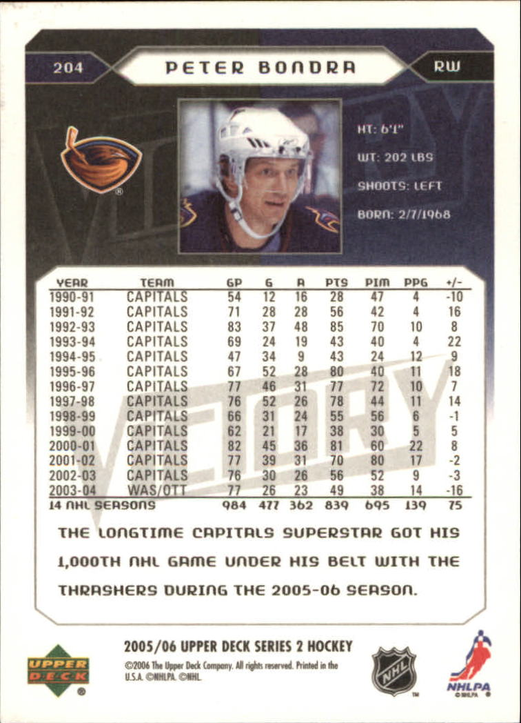 2005-06-Upper-Deck-Victory-Hockey-Cards-1-250-Pick-From-List thumbnail 373