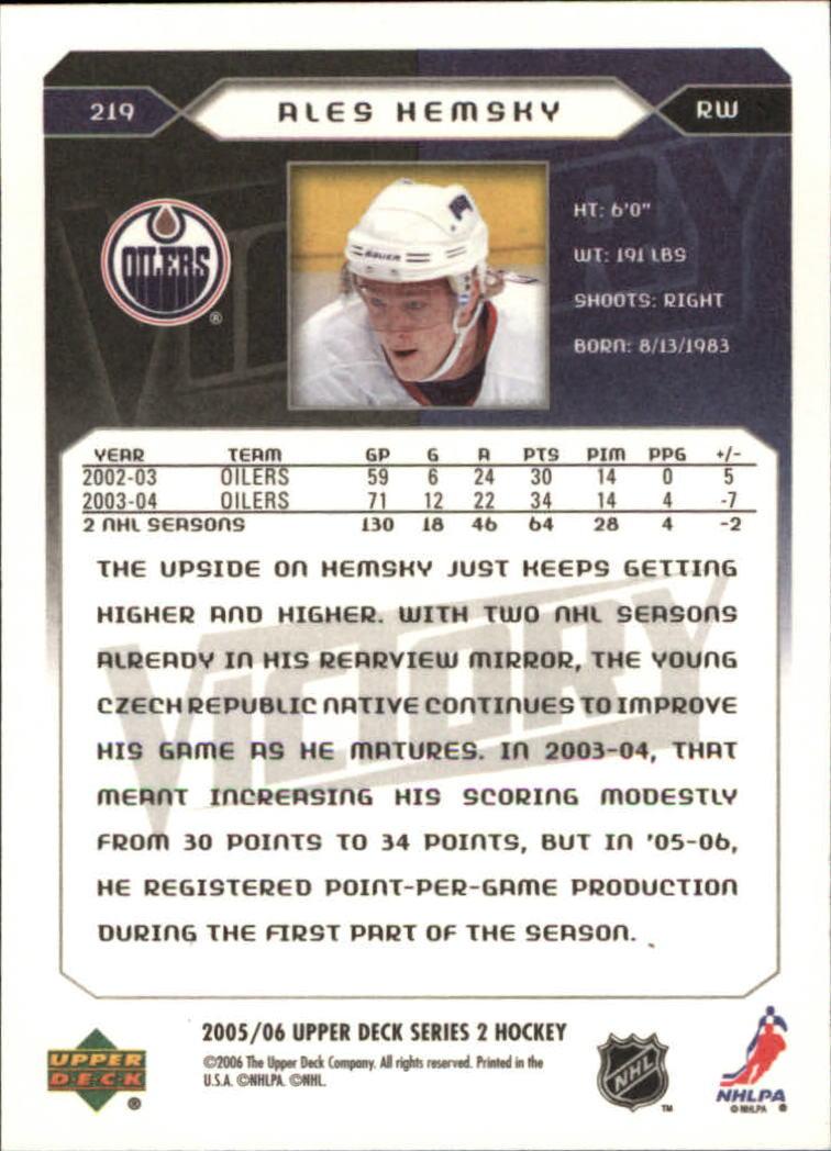 2005-06-Upper-Deck-Victory-Hockey-Card-Pick thumbnail 325