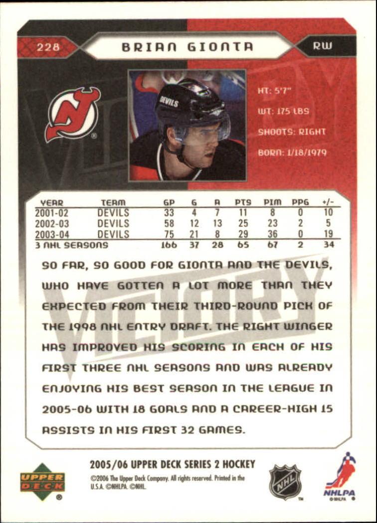 2005-06-Upper-Deck-Victory-Hockey-Card-Pick thumbnail 343
