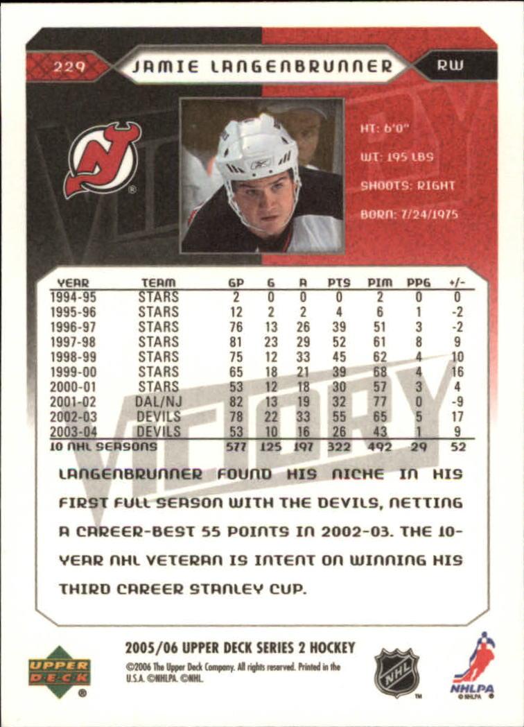2005-06-Upper-Deck-Victory-Hockey-Card-Pick thumbnail 345