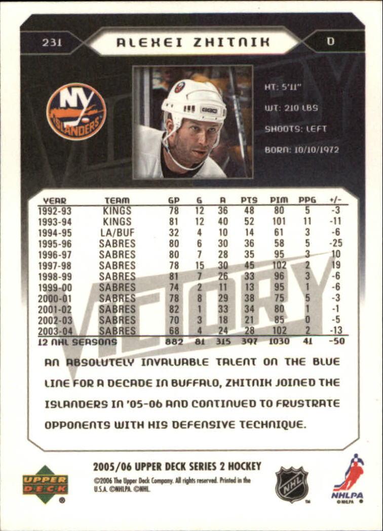 2005-06-Upper-Deck-Victory-Hockey-Card-Pick thumbnail 349
