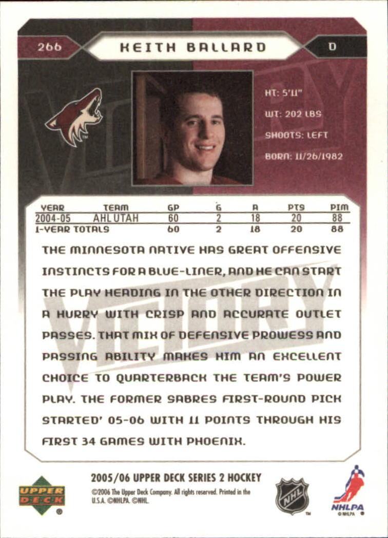 2005-06-Upper-Deck-Victory-Hockey-YOU-PICK thumbnail 132