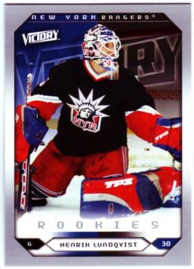 2005-06 Upper Deck Victory #288 Henrik Lundqvist RC