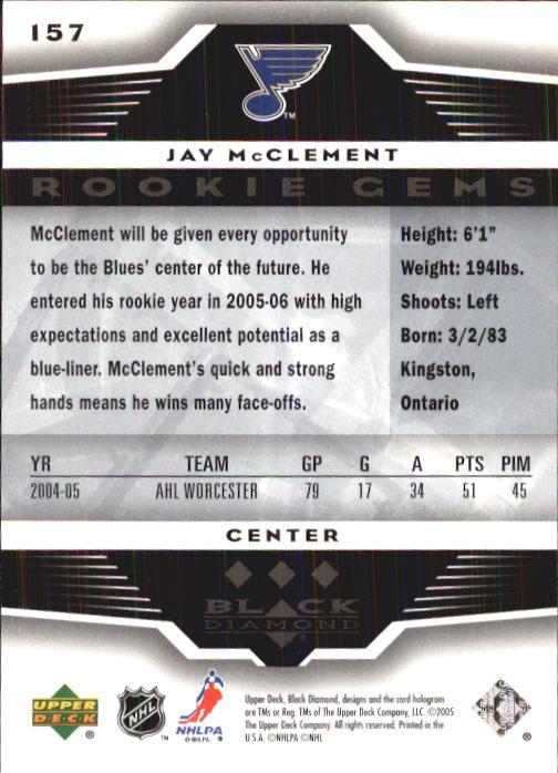 2005-06 Black Diamond #157 Jay McClement RC back image