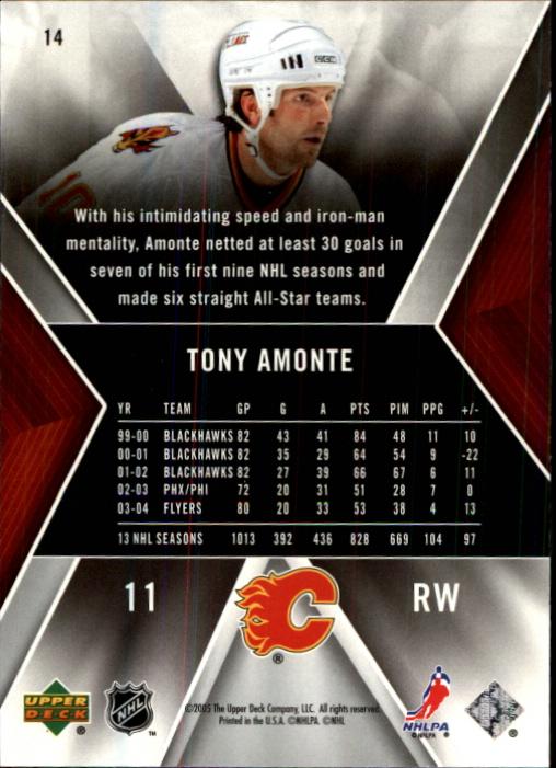 2005-06 SPx #14 Tony Amonte back image