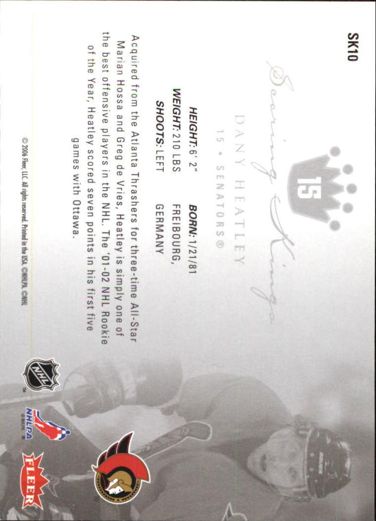2005-06 Ultra Scoring Kings #SK10 Dany Heatley back image