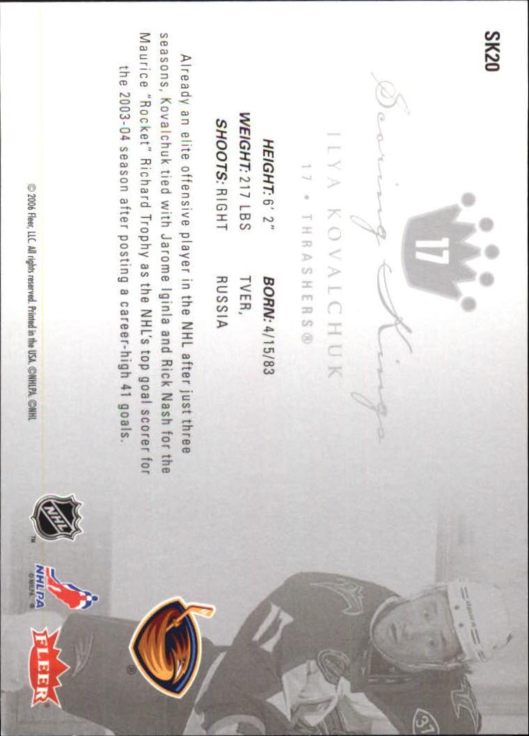 2005-06 Ultra Scoring Kings #SK20 Ilya Kovalchuk back image