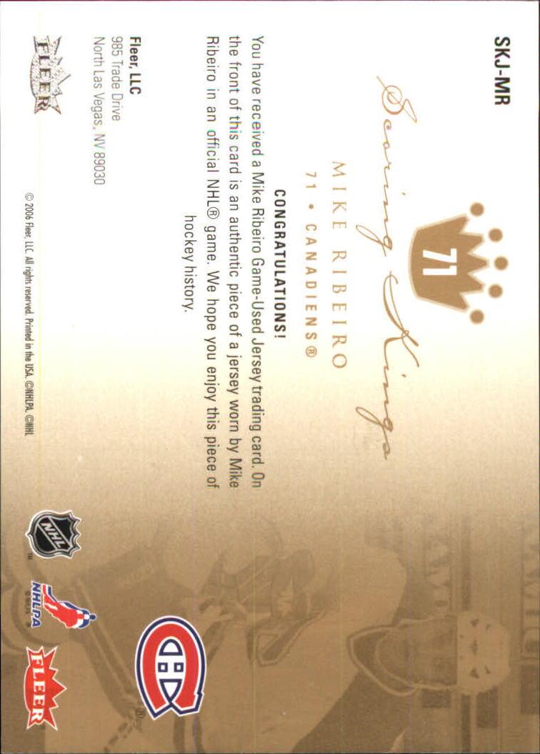 2005-06 Ultra Scoring Kings Jerseys #SKJMR Mike Ribeiro back image