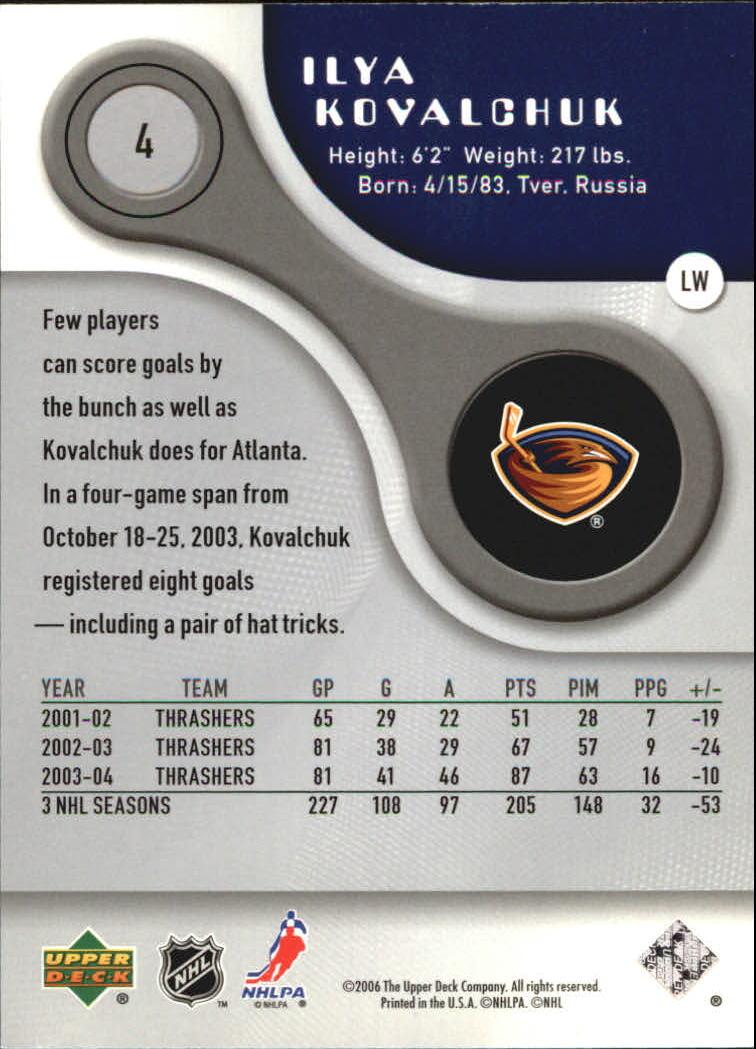 2005-06 SP Game Used #4 Ilya Kovalchuk back image