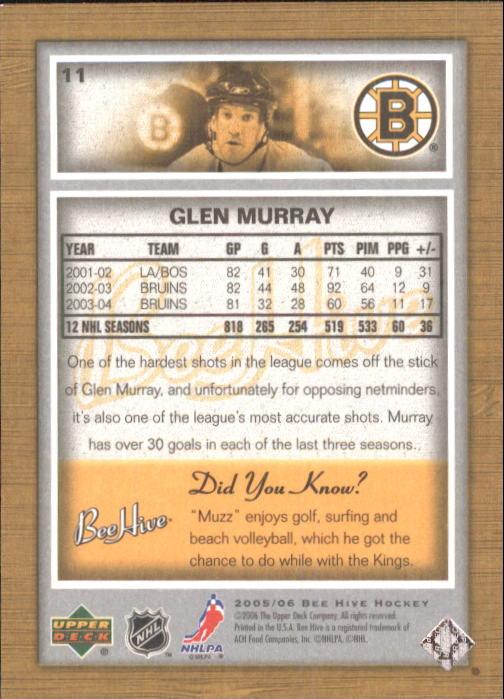 2005-06 Beehive #11 Glen Murray back image