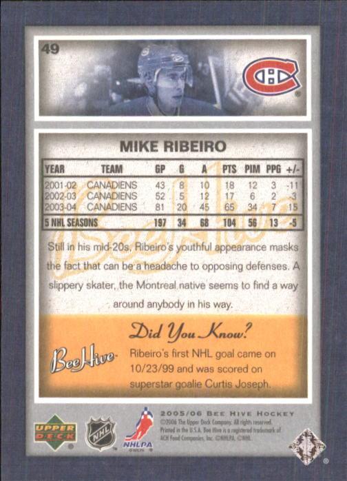 2005-06 Beehive #49 Mike Ribeiro back image
