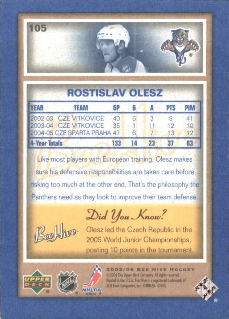 2005-06 Beehive Blue  #105 Rotislav Olesz back image