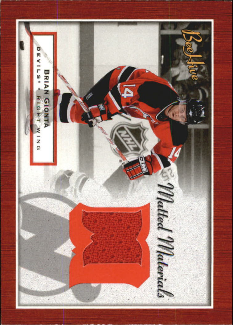 2005 Upper Deck Bee Hive Matted Materials #MM-GI Brian Gionta New Jersey Devils