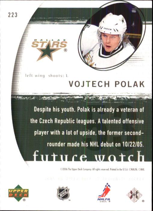 2005-06 SP Authentic #223 Vojtech Polak RC back image