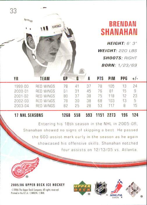 2005-06 Upper Deck Ice #33 Brendan Shanahan back image