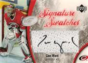 2005-06 Upper Deck Ice Signature Swatches #SSCW Cam Ward