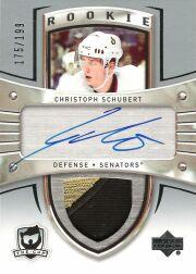 2005-06 The Cup #124 Christoph Schubert JSY AU RC