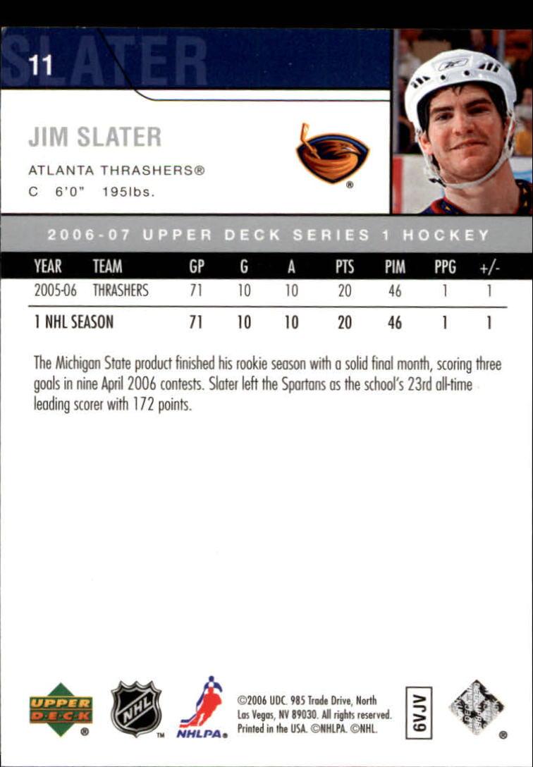 2006-07 Upper Deck #11 Jim Slater back image