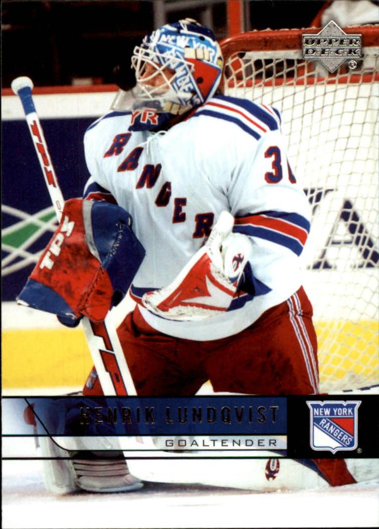 2006-07 Upper Deck #377 Henrik Lundqvist