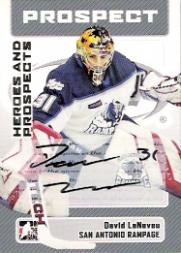 2006-07 ITG Heroes and Prospects Autographs #ADL David LeNeveu