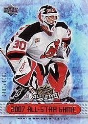 2007 Upper Deck All Star Game Redemptions #AS1 Martin Brodeur