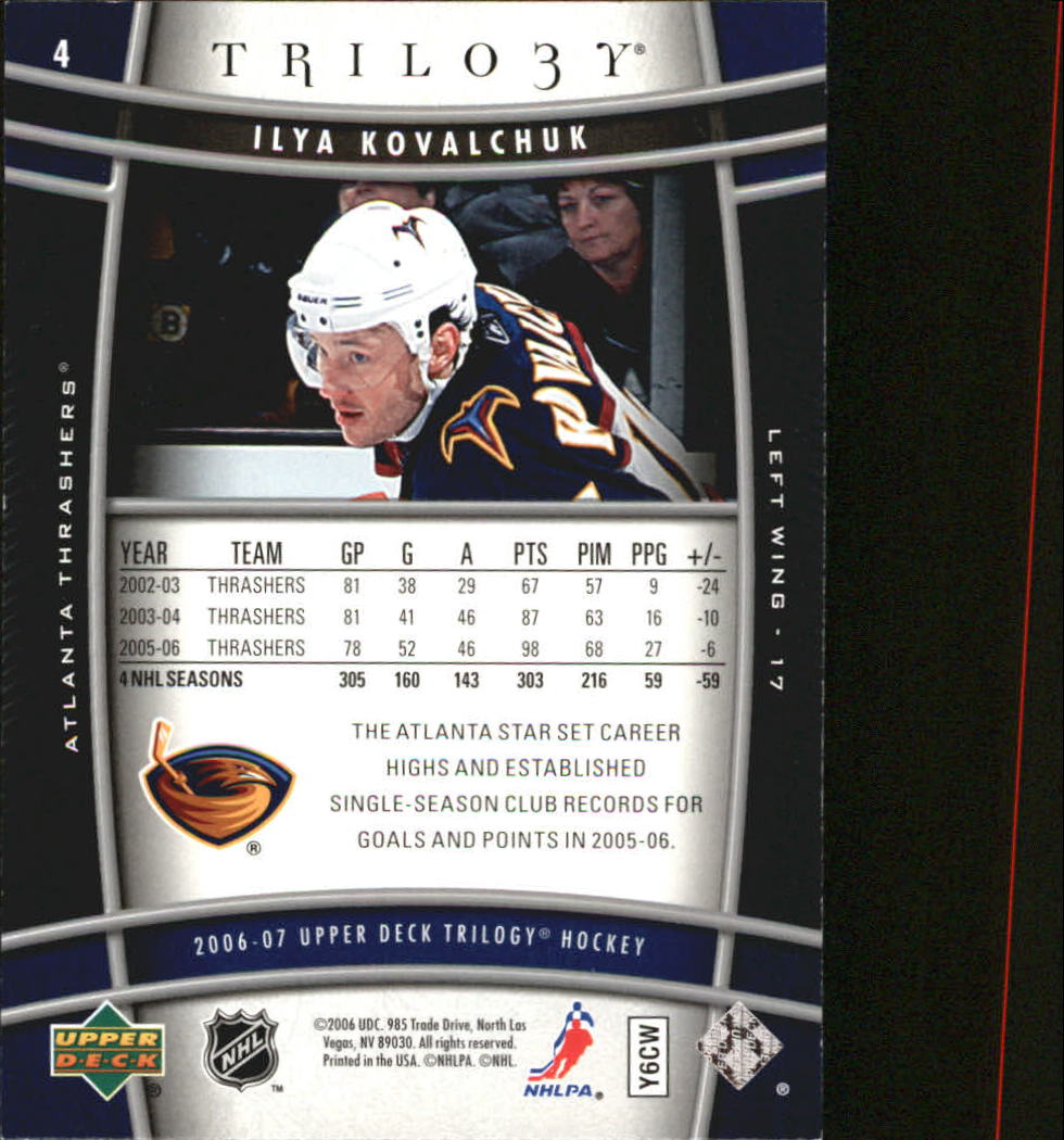 2006-07-Upper-Deck-Trilogy-Hockey-Cards-Pick-From-List thumbnail 5