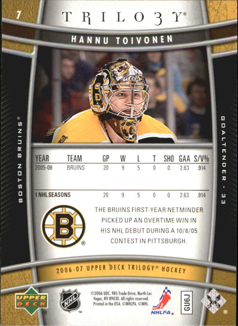 2006-07-Upper-Deck-Trilogy-Hockey-Cards-Pick-From-List thumbnail 11