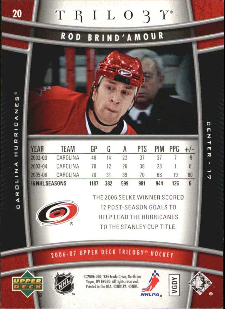 2006-07-Upper-Deck-Trilogy-Hockey-Cards-Pick-From-List thumbnail 27