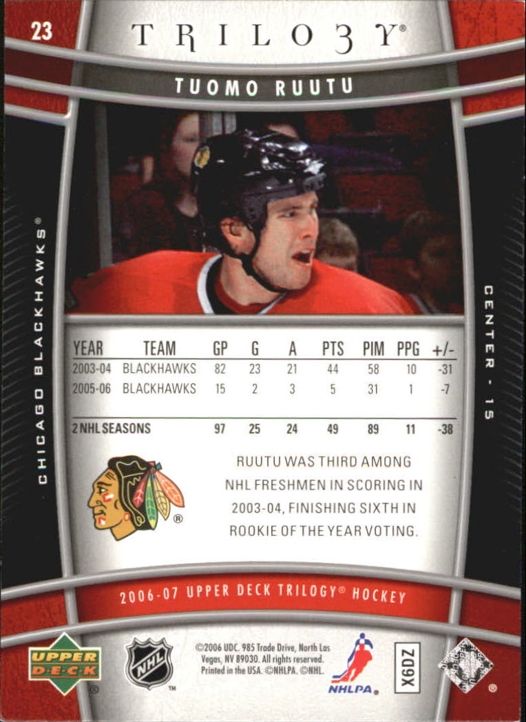 2006-07-Upper-Deck-Trilogy-Hockey-Cards-Pick-From-List thumbnail 31