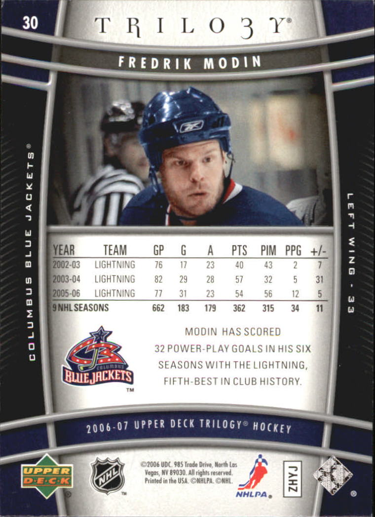2006-07-Upper-Deck-Trilogy-Hockey-Cards-Pick-From-List thumbnail 41