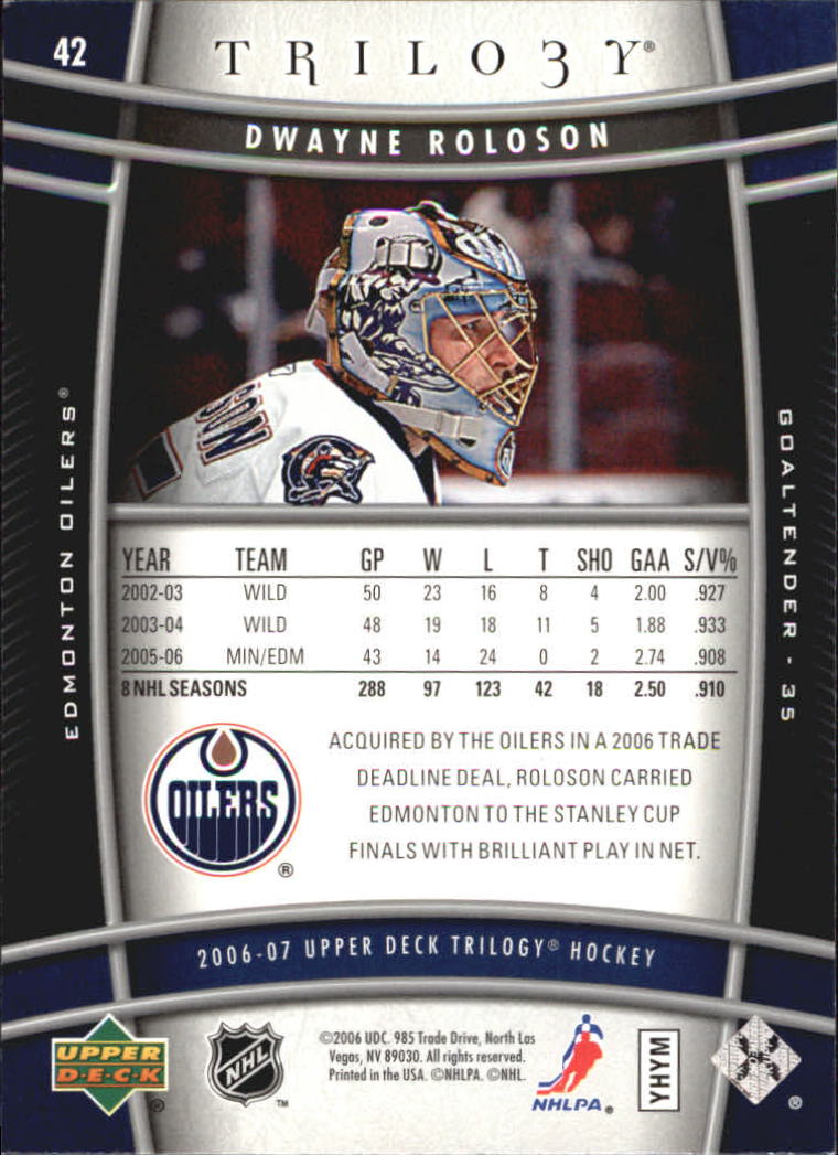 2006-07-Upper-Deck-Trilogy-Hockey-Cards-Pick-From-List thumbnail 61