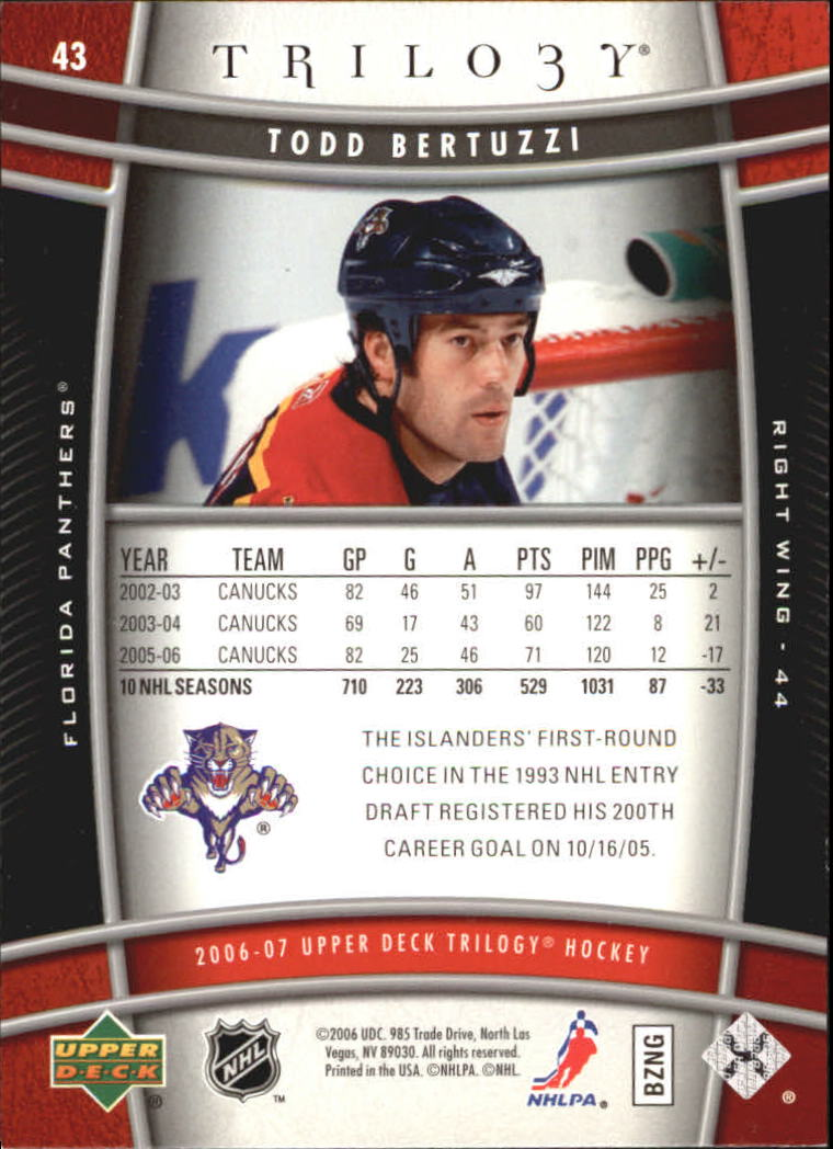 2006-07-Upper-Deck-Trilogy-Hockey-Cards-Pick-From-List thumbnail 63