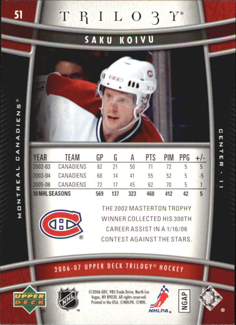 2006-07-Upper-Deck-Trilogy-Hockey-Cards-Pick-From-List thumbnail 77