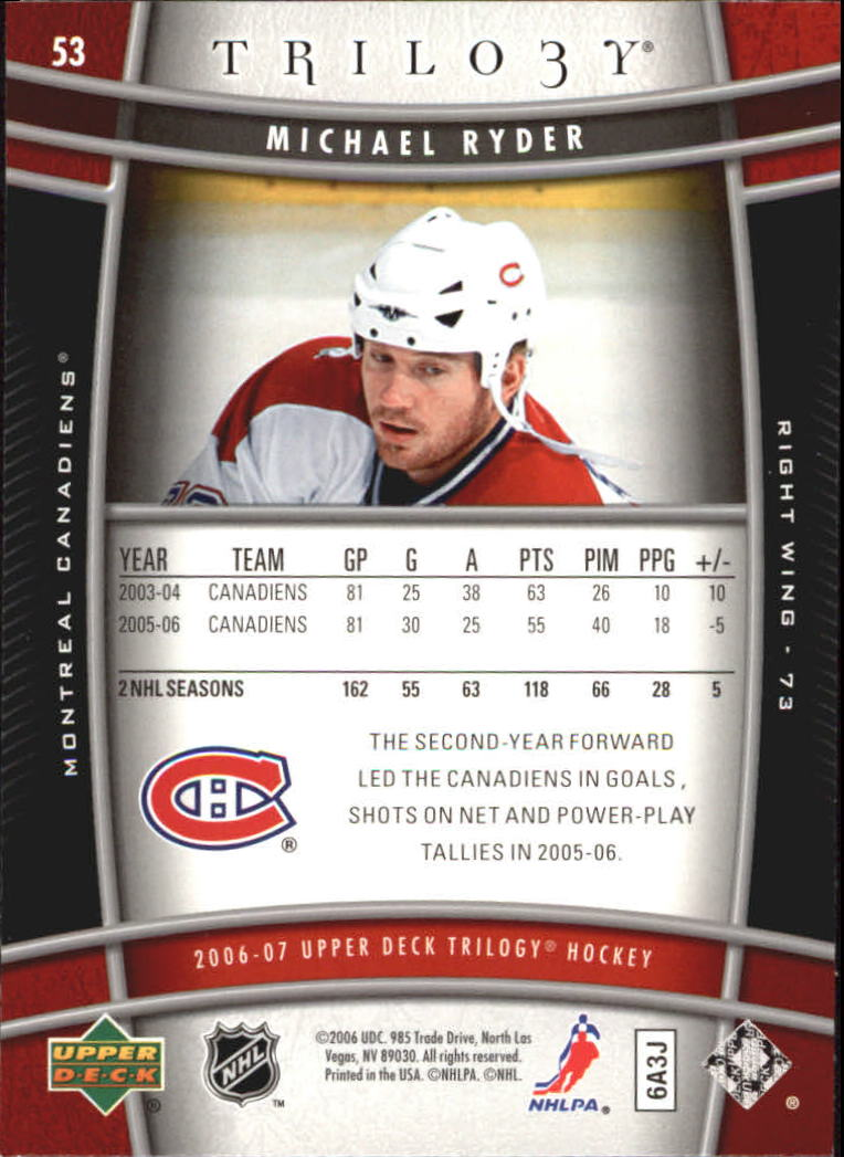 2006-07-Upper-Deck-Trilogy-Hockey-Cards-Pick-From-List thumbnail 81